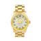 Michael kors woman's runway green glitz dial gold steel watch   emprada