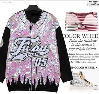 sweater sequin cardigan sweater fubu