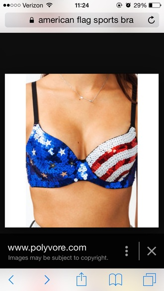 shirt america bra top cute american flag