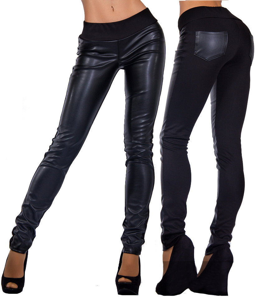 Leather Knitwear Leggings