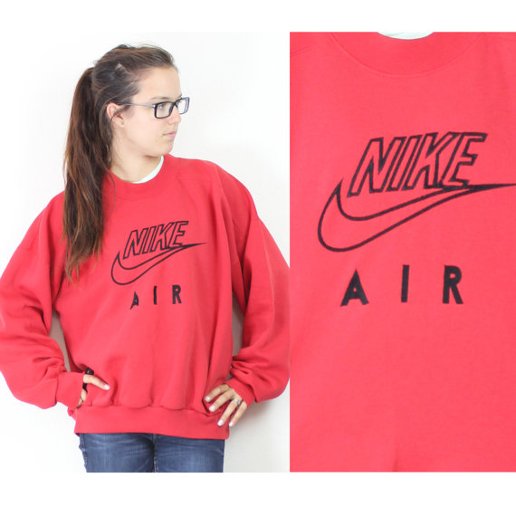 arriving reasonably priced get online Vintage Retro Red Nike Air Sweatshirt by VintageWestCoast on ...