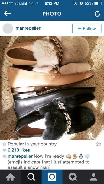 shoes fur classy elegant beige shoes