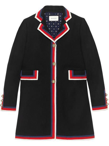 gucci coat wool coat women black wool
