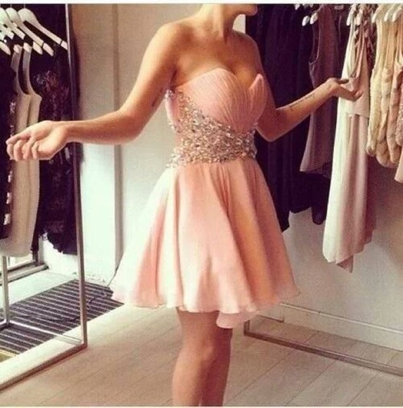 dress pink rose rosa juwel