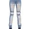 Shredded cotton denim jeans