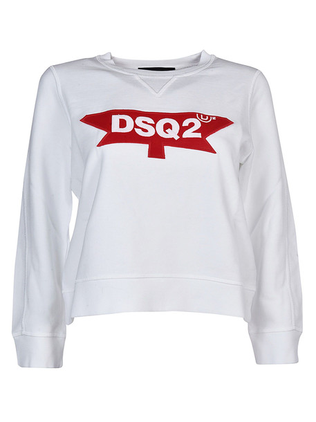 Dsquared2 Logo Sweatshirt in white