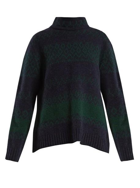 A.P.C. sweater wool navy