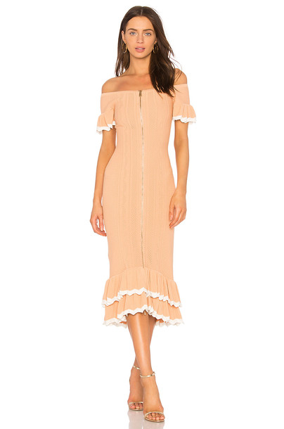 Alice McCall dress peach
