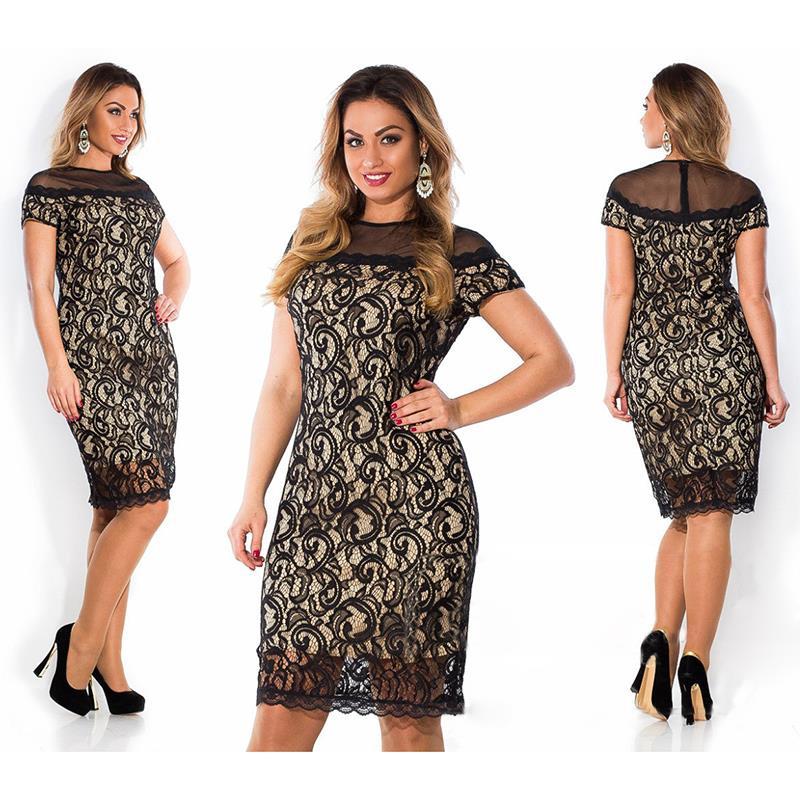 Платье из гипюра для женщин 50 лет