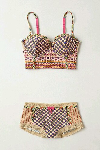 underwear colorful prints hippie chic hippie blue underwear pink underwear yellow underwear print