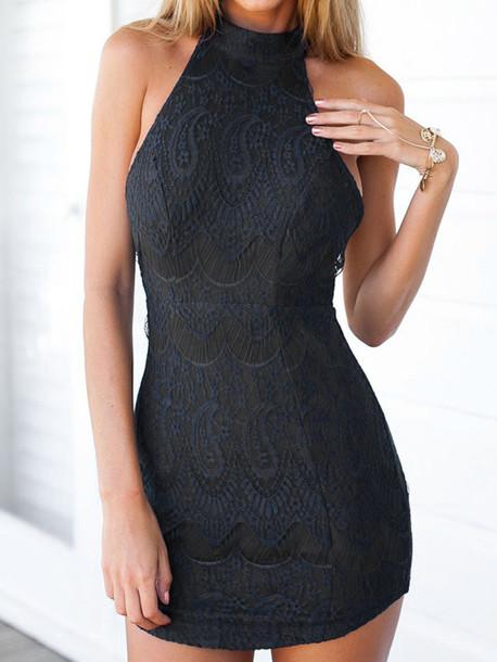 dress zaful black dress black sexy dress summer
