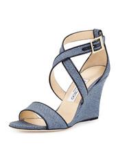 shoes,jimmy choo,blue,wedges,blue wedges