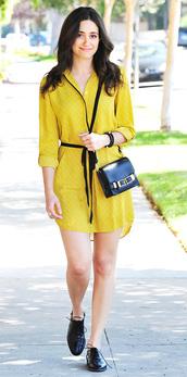 emmy rossum,dress,bag