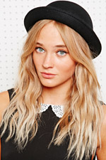 Simple bowler hat in black at urban outfitters