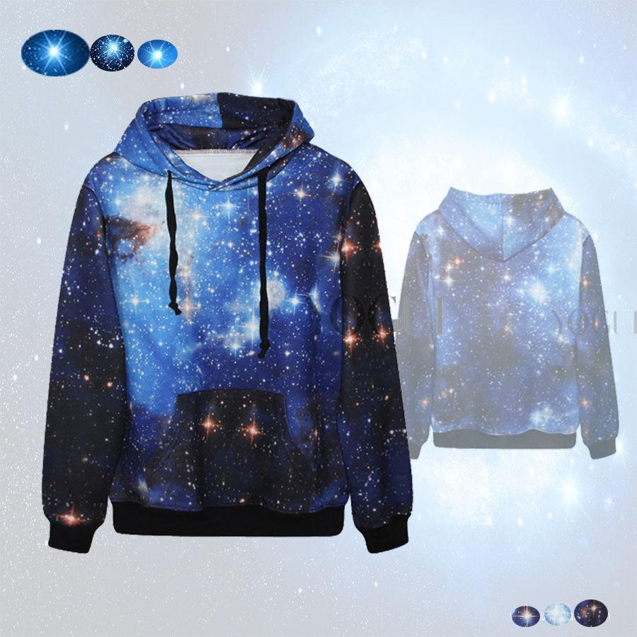 blue space galaxy hoodie