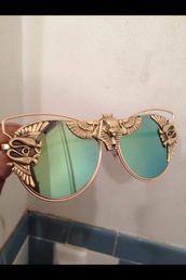 sunglasses,shades,gold frame glasses,vintage,gold frame