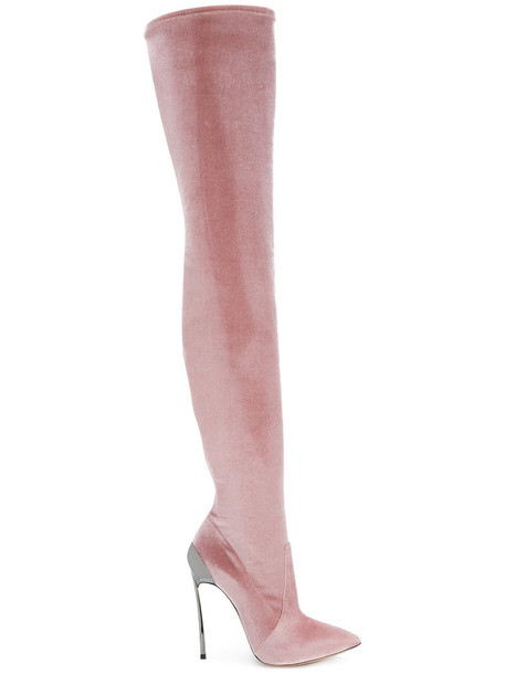 CASADEI women leather purple pink shoes