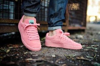 shoes pink shoes puma shoes