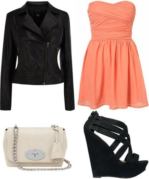 dress orange strapless dress.