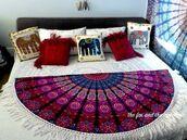 home accessory,mandala roundies,home decor,handmade throw,beach,table decor,hippie table runner,room accessoires,boho bedding,bedding