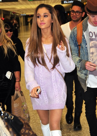 dress ariana grande purple dress pastel dress