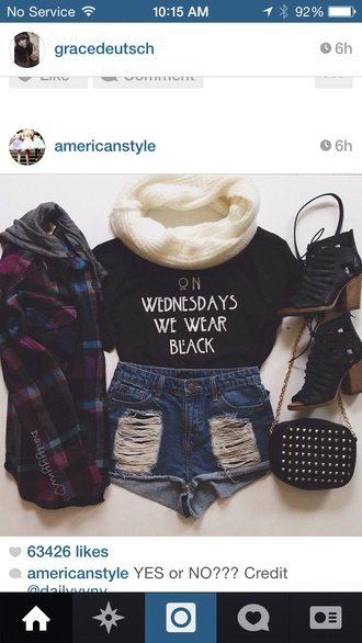 shirt american horror story shirt cross over bag infinity scarf