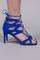 Beverly hills 75 electric blue suede heel
