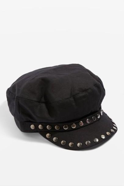 Topshop studded hat black