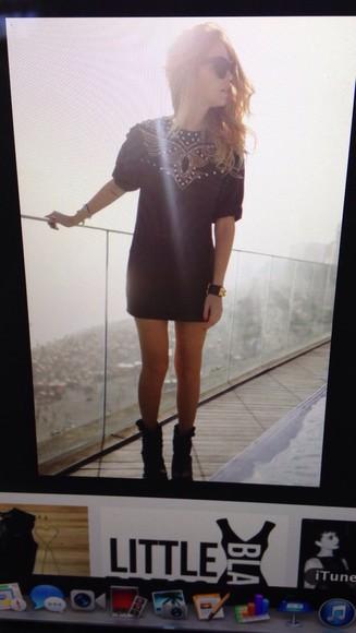 little black dress rolled sleeves