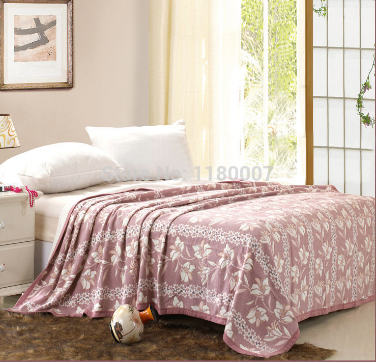 Aliexpress.com : Buy Comfortable 180*230cm Cameo Brown Floral Print Cotton  Towel Blanket Throw Bed Sofa Summer Cover Express Free Shipping From  Reliable ...