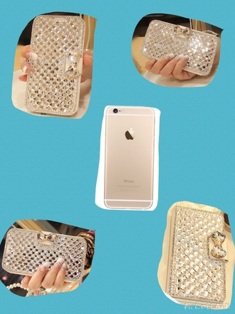 phone cover diamonds iphone 6 bow