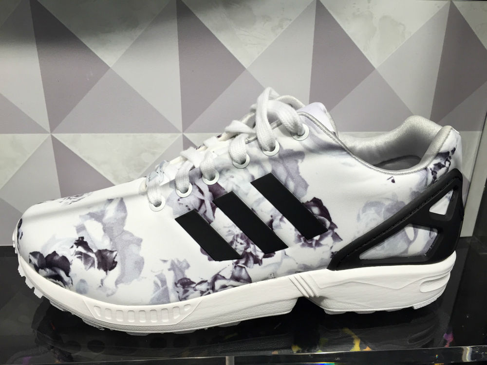 adidas Originals ZX Flux Women's Running Shoes Blue Floral