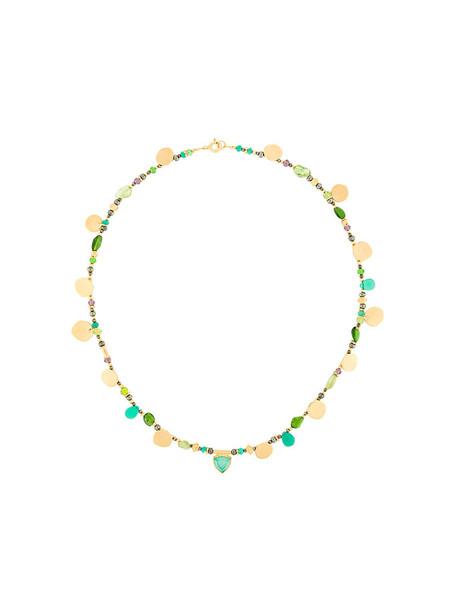 Katerina Makriyianni women spring necklace gold silver grey metallic jewels