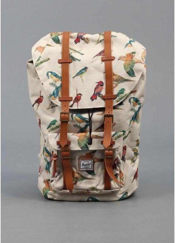 Herschel Supply Co. Little America Bird Print Backpack Cream - Herschel Supply Co. from Triads UK