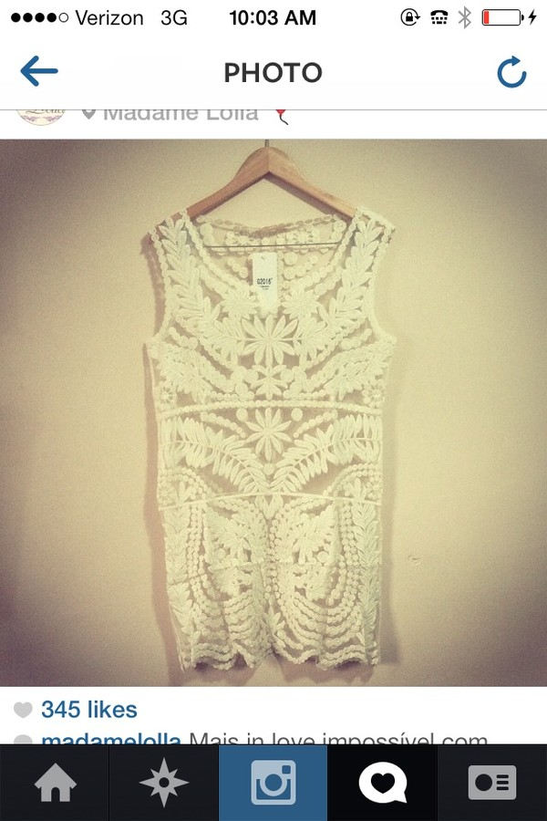 blouse this white lace too please