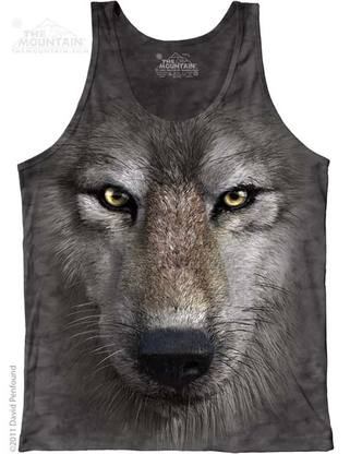 Wolf Face Mens Tank Top