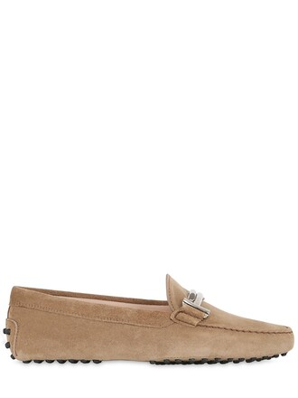 shoes suede beige