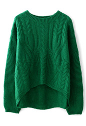 sweater,cable knit,green,white,pullover,shirt,hat