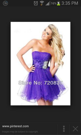 purple sweetheart neckline purple dress
