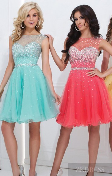 prom dress pink dress gown homecoming dresses party dress cute dress illusion formal dress fashion a-line homecoming short dress beaded dress sky blue dress short prom dresses 2014 hot sale dress