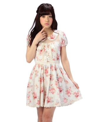 dress kawaii cute roses rose girly