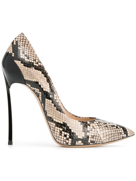 CASADEI snake women king pumps leather nude shoes