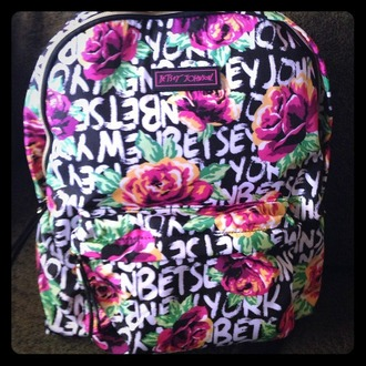 bag floral flowers print backpack betsey johnson