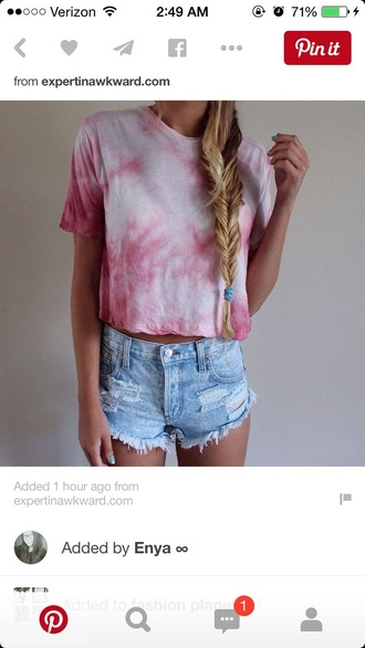 shirt tiedye tie dye swimwear t-shirt hat shorts