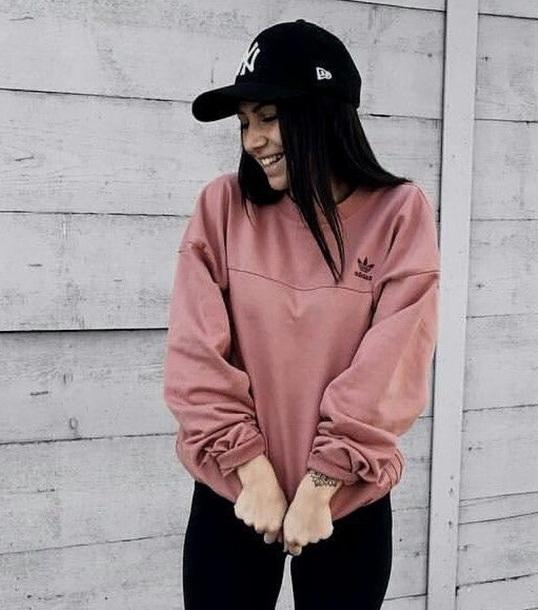 top adidas adidas sweater adidas originals adidas shirt pink