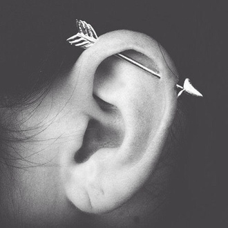 jewels arrow piercing ear piercings earrings earings fashion jewerlly earing cartilage hair accessory earphones industrialpiercing