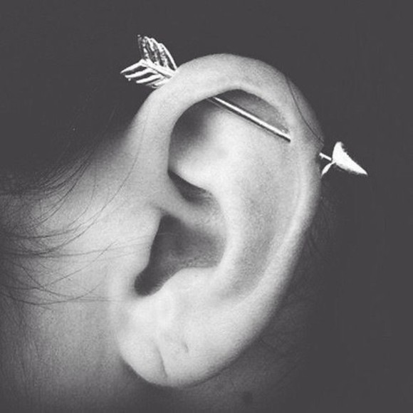 jewels earing cartilage arrow piercing arrow piercing ear piercings earrings earrings fashion jewerlly arrow earrings