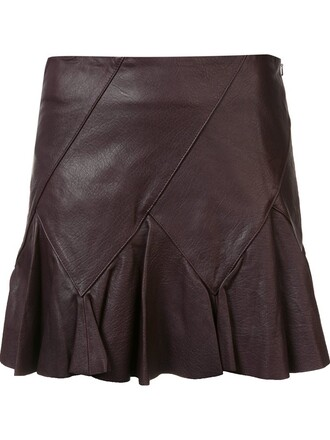 skirt leather skirt women leather brown