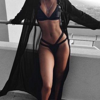 swimwear black bikini cute sexy bikini
