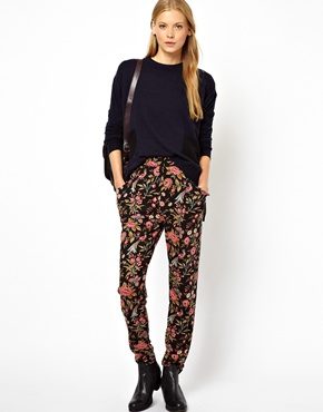 ASOS | ASOS Peg Pants in Floral Print at ASOS